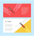 syringe abstract corporate business banner vector image vector image