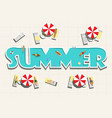 top view summer pool and people horizontal vector image