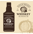 typography monochrome vintage label with bottle vector image vector image