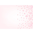 Valentine card background vector image