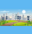 view city from park vector image vector image