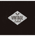 Vintage handcrafted label design Letterpress vector image