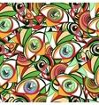 Vivid eyes seamless pattern vector image vector image