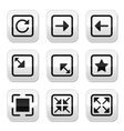 Website screen size buttons set - full screen vector image vector image
