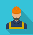 worker icon flat style vector image