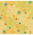 Yellow floral seamless pattern vector image vector image