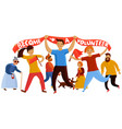 young volunteering enthusiasts composition vector image vector image