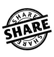share rubber stamp vector image