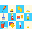 Cleaning Set Icons vector image