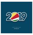 2019 seychelles typography happy new year vector image vector image