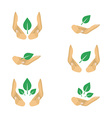6 variants of ecology protection symbols for vector image vector image