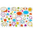 a lot diversity speech bubbles set different vector image vector image