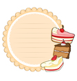 A round stationery with cakes vector image vector image