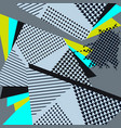 abstract geometric collage blue pattern vector image