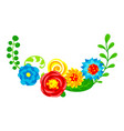 background with summer flowers vector image