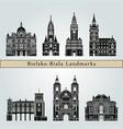 bielsko-biala landmarks vector image vector image