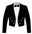 Black suit with bow tie vector image vector image