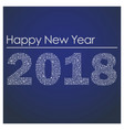 blue happy new year 2018 from little snowflakes vector image vector image
