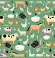 bright pattern farm animals vector image