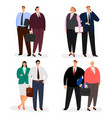 business couple characters isolated vector image vector image