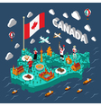 Canada Isometric Map vector image vector image