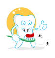 cartoon tooth decay vector image vector image