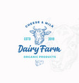 cheese and milk dairy farm abstract sign vector image