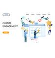 clients engagement website landing page vector image