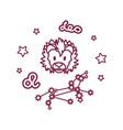cute line zodiac sign vector image