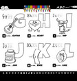 educational cartoon alphabet letters set from g vector image vector image