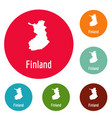 finland map in black simple vector image vector image