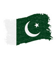 flag of pakistan grunge abstract brush stroke vector image vector image