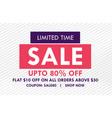 flat sale banner design with offer details vector image vector image