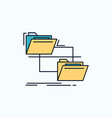 folder file management move copy flat icon green vector image vector image
