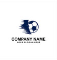 foot ball logo vector image vector image