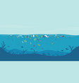 garbage floating in water vector image vector image