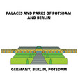 germany berlin potsdam palaces and parks line vector image vector image