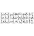 glass toys and balls hand drawn doodle set vector image
