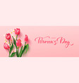 greeting card for march 8 with flowersbackground vector image
