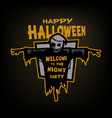 happy halloween scarecrow with a place for text vector image