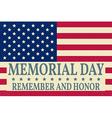 Happy Memorial Day background template Happy vector image