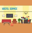 hostel service flat vector image