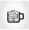 Hours a cup vector image vector image