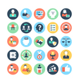 Human Resources Colored Icons 2 vector image vector image
