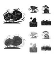 isolated object of natural and disaster icon vector image vector image