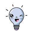 kawaii cute funny bulb idea vector image
