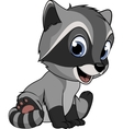 Little funny raccoon vector image vector image