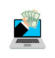loan online hand with money vector image