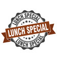 lunch special stamp sign seal vector image vector image