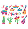 mexican festival art vector image